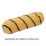 Stapel 18mm Geel met de Zwarte Dekking van de Rol van de Polyester van de Lijn