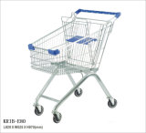 80Lスーパーマーケットのためのヨーロッパ式の買物車
