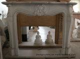 sui camini del marmo di vendita con qualità Mano-Intagliata fine ed il disegno semplice T-7106