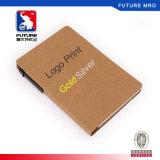 Caderno recicl com as almofadas da pena e de memorando para presentes da promoção
