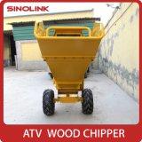 Burilador de madera Chipper/pequeño de la desfibradora de madera del cuchillo fuerte del Portable ATV