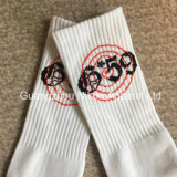 Calcetines ocasionales blancos del algodón por encargo de los hombres