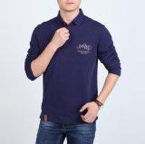 중국 공급자 주문 불쾌 면 남자의 긴 소매 폴로 셔츠