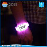 Wristband impermeável da borracha do Tag da proximidade do silicone RFID do diodo emissor de luz