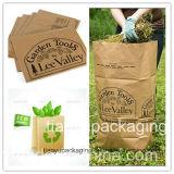 Saco Eco-Friendly do papel de embalagem do lixo da folha/saco do jardim