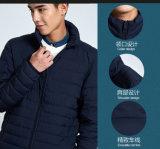 Os homens é fácil ter o logotipo da Jaqueta com revestimento à prova de água para baixo personalizado para baixo jaqueta com estofamento