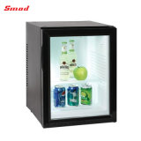 열전 냉장고 투명한 유리제 문 냉장고 호텔 방 냉장고