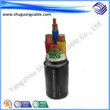 Взрыв устойчив XLPE изоляцией ПВХ пламенно электрического кабеля питания