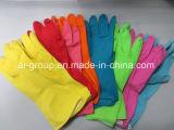 Латексные перчатки домашних хозяйств для очистки