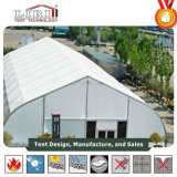 40m Width Curve Tent with Lime pit White PVC Sidewalls and Air Idiots for Exhibition