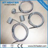 Calentador de bobina con el termocople K