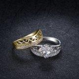 최고 판매 2 음색은 지르콘으로 숙녀 반지 디자인을 도금했다 Fashion Jewellery