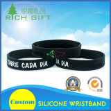 China Proveedor de deporte pulsera de silicona de promoción con el logotipo impreso