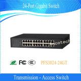 De 24-haven van de Schakelaar van de Toegang van Ethernet van Dahua de Schakelaar van Gigabit (PFS3024-24GT)