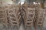 Oferta de color Limewash Jardín Cruz X sillas para banquetes al aire libre