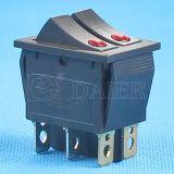 12V DOT Illuminated 6 Pins Rocker Switch con 2 LED