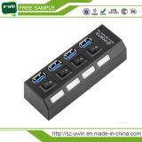 Mozzo Port del USB 3.0 di alta velocità 4 con l'adattatore di potere