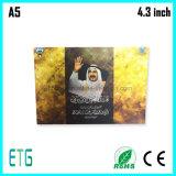 Brochure visuelle /Video de 4.3 pouces saluant Card/LCD Book-2014 bleu chaud