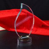 2015 Nuevo trofeo de cristal el premio de diseño en blanco
