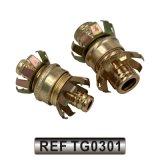 Accessoires en acier de connecteur d'embout de durites de jardin du boyau de pipe (TG0302)