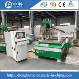 Vier Kopf-pneumatische ändernde Scherblöcke hölzerne CNC-Fräser-Maschine