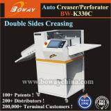 Pantalla táctil de 7'', Libro de papel Softcover Full-Auto completamente automático de alimentación automática a doble cara Creaser perforante