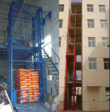 Table élévatrice de fil de marchandises à chaînes hydrauliques de longeron pour le contrôle multi