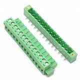 5.08mm PCBのプラグイン可能なねじ込み端子は直角の9 10 11 12 13 14 Pinを妨げる