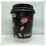 Tazza di carta a gettare per il caffè caldo della bevanda calda