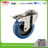 125mm elastische steife Gummifußrolle (D104-23DA125X36)