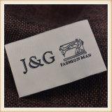 Fornecer a etiqueta tecida do tipo vestuário feito sob encomenda