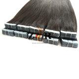 Naturel de couleur sombre tiré les cheveux chinois de la bande dans l'extension de cheveux