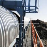 Transportador de cinto curvo horizontal para sistema de manuseio de materiais