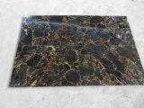Gouden Ader met de Zwarte Marmeren Zwarte Marmeren Tegels van Plakken