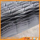 De HDPE de plástico preto Geocells perfurada