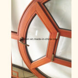 Lombo Style Arched-Top Janela Wood-Casement sólida