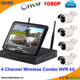 4 canais WiFi Combo NVR Kit Wireless P2p IP Camera