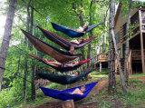 Ocio al aire libre el doble de 2 persona hamacas de algodón 450lbs Ultralight Camping hamaca