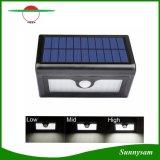 Nova 50 LED luzes Solar LED impermeável Jardim Pátio Exterior Street Light Sensor de movimentos PIR candeeiro de parede de painel solar com bateria substituível
