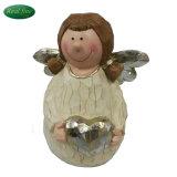 Het mooie Ceramische Standbeeld en de Liefde van de Engel voor de Decoratie van het Huis