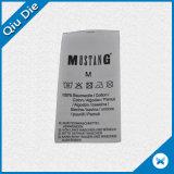 Etiqueta impressa instrução de lavagem satisfeita da etiqueta de cuidado no rolo para o roupa interior/sutiã