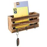 Ящик деревенском стиле в стену Mail сортировщика с кольцом крюки