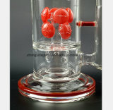 Tabac en verre de filtre de conduite d'eau de carthame réutilisant le tube de narguilé