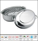 Articolo da cucina del Cookware della vaschetta arrostito vaschetta ovale del pollo del girarrosto