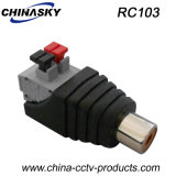 "Il RCA Connector del CCTV Female con Stampa-Fit"" Terminal Blocks (RC103)"