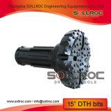 """Pressão de ar elevada DHD380-254mm Botão DTH Bit para o martelo de 8"""""""