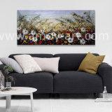 Lona estirada de arte de la pared de flores hechas a mano de pintura al óleo para la decoración del hogar