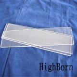 明確な高密度ホウケイ酸塩のガラス板