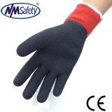 Nmsfetyの半分塗られた泡乳液熱はさみ金の冬作業手袋