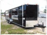 Caminhão móvel Re-Enforced vidro do alimento do reboque do alimento da alta qualidade do painel para a venda